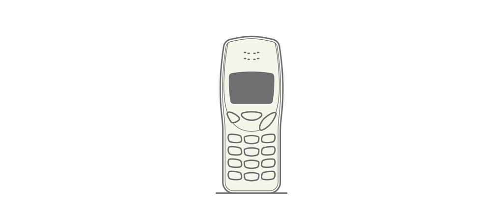 Nokia 3210 – Designed by Alastair Curtis, 1999