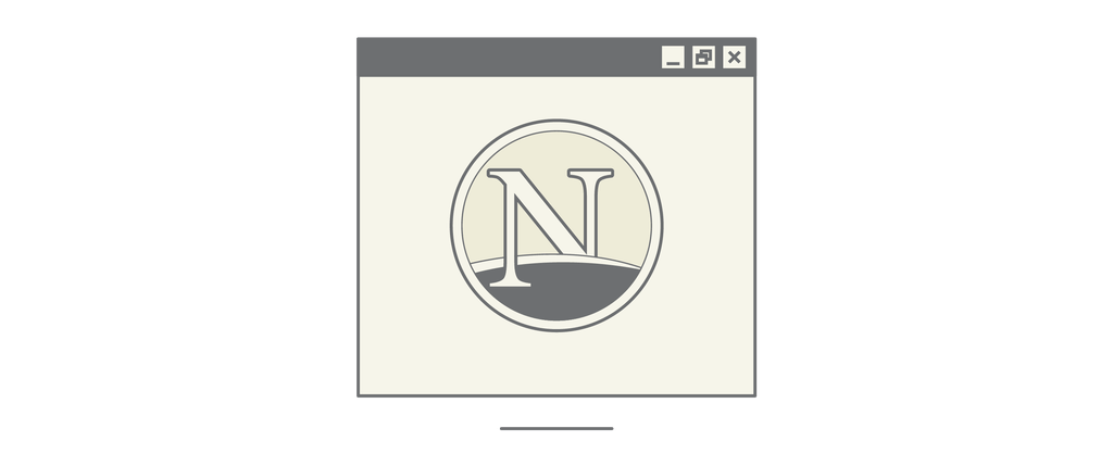 Netscape Browser – Designed by AOL, 2005